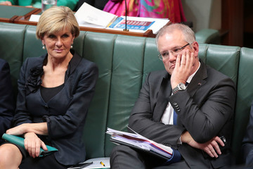 Julie Bishop Canberra Reacts to the 2017 Federal Budget Release