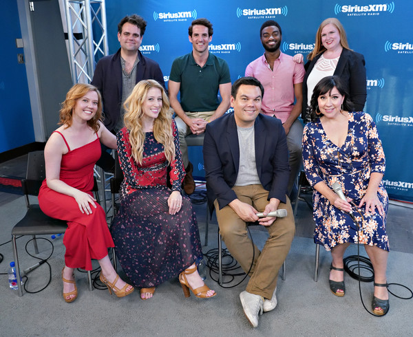 SiriusXM On Broadway Presents 'Curtain Call With FROZEN The Broadway Musical' Featuring Conversations With The Show's Stars And Tony-Nominated Songwriting Team [social group,people,event,community,team,performance,tourism,recreation,leisure,family,l-r,back row,front row,part,presents,curtain call,siriusxm on broadway presents curtain call with frozen the broadway musical,featuring conversations with the shows stars and tony,songwriting team,siriusxm]