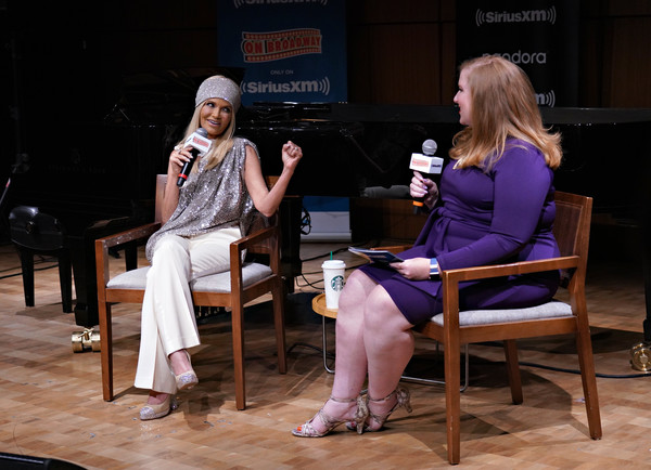 Kristin Chenoweth Performs Live At Steinway Hall In New York City [on broadway channel,performance,event,talent show,heater,stage,performing arts,conversation,drama,adaptation,sitting,kristin chenoweth performs live on siriusxm,julie james,kristin chenoweth,channel,steinway hall,new york city,siriusxm]
