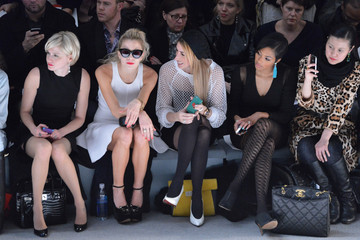 Julie Macklowe DJ Chelsea Leyland Milly By Michelle Smith - Front Row - Fall 2013 Mercedes-Benz Fashion Week