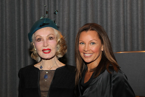 Opening Celebration Of Kimberly McDonald Los Angeles [opening celebration of kimberly mcdonald,julie newmar,vanessa l. williams,l-r,face,head,beauty,fashion,lip,event,headgear,smile,photography,party,los angeles,west hollywood,california]