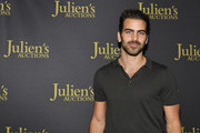 "Nyle DiMarco attends the VIP reception for upcoming ""Property of Olivia Newton-John Auction Event at Julien's Auctions on October 29, 2019 in Beverly Hills, California."