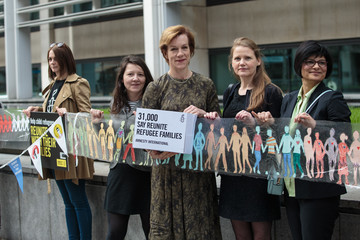 Juliet Stevenson Amnesty Protest to Stop the UK Government Separating Refugee Families