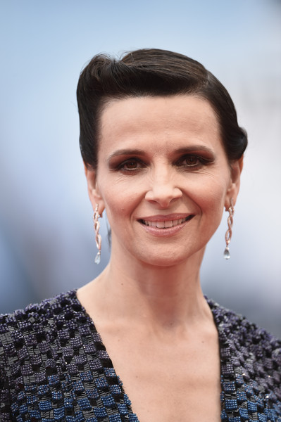 'The Wait' Premiere - 72nd Venice Film Festival [the wait,hair,face,eyebrow,hairstyle,facial expression,skin,chin,lip,beauty,head,juliette binoche,venice,italy,palazzo del casino,venice film festival,the wait premiere,premiere]