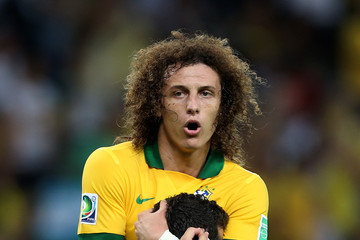 Julio Cesar David Luiz Brazil v Spain: Final