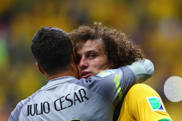 Julio Cesar David Luiz Cameroon v Brazil: Group A - 2014 FIFA World Cup Brazil