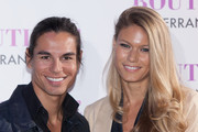 (L-R) Julio Iglesias Jr and Charisse Verhaert attend Julio Jose Iglesias' birthday party at Le Boutique Club on March 14, 2013 in Madrid, Spain.