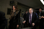 Harvey Weinstein leaves with his attorney Donna Rotunno court on February 19, 2020 in New York City. Weinstein has pleaded not-guilty to five counts of rape and sexual assault. He faces a possible life sentence in prison if convicted.