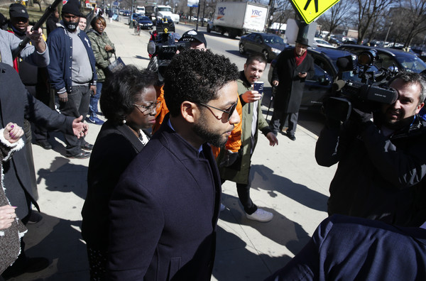 Jussie Smollett Outside Of Court After All Charges Dropped Against Him