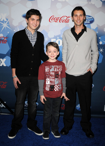 "Fox's Meet The Top 12 ""American Idol"" Finalists Event - Arrivals [event,premiere,suit,performance,carpet,flooring,arrivals,justin berfield,american idol finalists,actors,benjamin stockham,matthew levy,l-r,foxs meet the top,industry,event]"