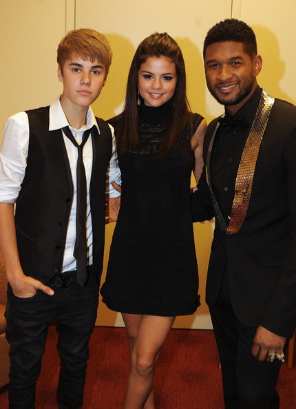 Justin Bieber ****EXECUTIVE COVERAGE**** Justin Bieber, Selena Gomez and Usher Raymond backstage at the 33rd Annual Georgia Music Hall Of Fame Awards at the Cobb Energy Performing Arts Center on September 17, 2011 in Atlanta, Georgia.