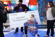 """Justin Bieber surprises superfan Julie Coker with $100K donation during MTV's """"Fresh Out Live"""" on February 07, 2020 in New York City."""