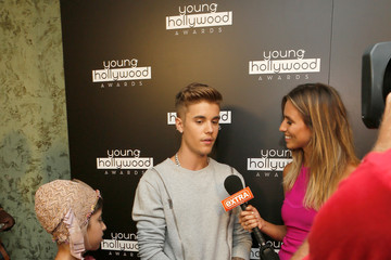 Justin Bieber Green Room at the Young Hollywood Awards
