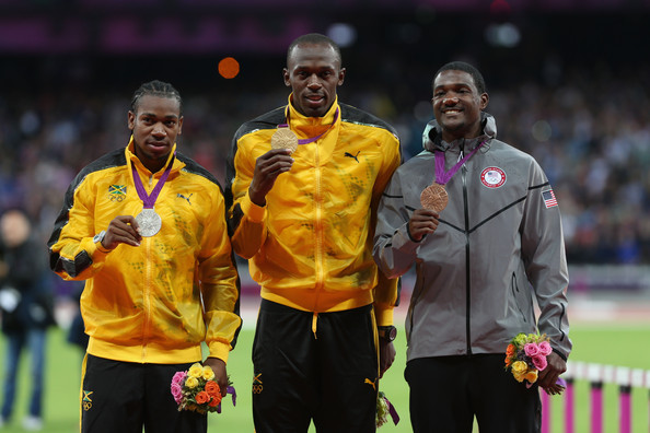 Justin Gatlin Usain Bolt Photos Photos - Olympics Day 10 ...