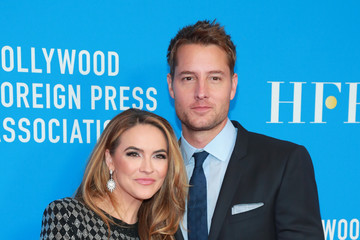 Justin Hartley Chrishell Stause Hollywood Foreign Press Association's Annual Grants Banquet - Arrivals
