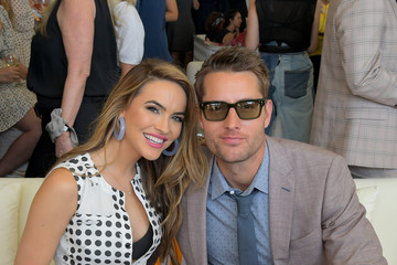 Justin Hartley Chrishell Stause 10th Annual Veuve Clicquot Polo Classic Los Angeles