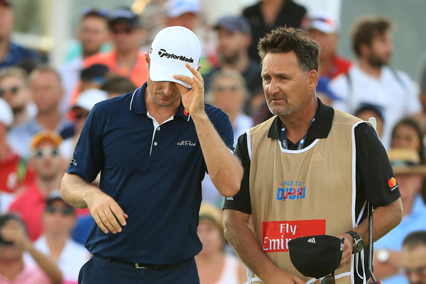 DP World Tour Championship - Day Four [championship,recreation,sports,competition event,coach,competition,games,endurance sports,mark fulcher,justin rose,green,dubai,united arab emirates,jumeirah golf estates,england,dp world tour championship,round]