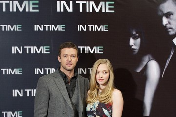 Justin Timberlake Amanda Seyfried Justin Timberlake and Amanda Seyfried Attend 'In Time' Photocall