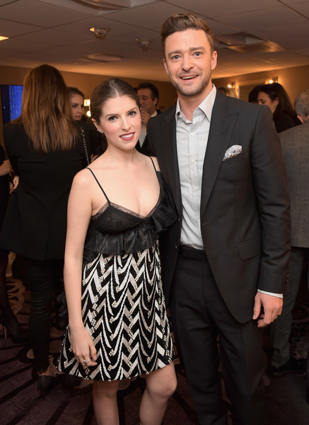 Hollywood Film Awards -  Green Room [suit,fashion,little black dress,event,dress,formal wear,smile,tuxedo,cocktail dress,haute couture,anna kendrick,justin timberlake,hollywood film awards - green room,room,west hollywood,california,l,hollywood film awards]