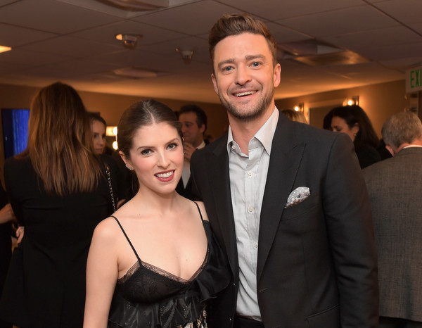 Hollywood Film Awards -  Green Room [event,fashion,smile,formal wear,suit,fun,dress,party,tuxedo,little black dress,anna kendrick,justin timberlake,hollywood film awards - green room,room,west hollywood,california,l,hollywood film awards]