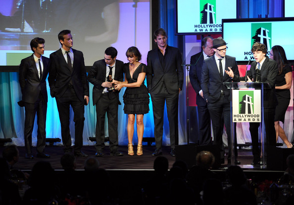 14th Annual Hollywood Awards Gala - Show [the social network,event,product,youth,performance,design,award,stage,convention,night,media,cast,hollywood ensemble cast award,california,beverly hills,the beverly hilton hotel,annual hollywood awards gala - show,hollywood awards gala]