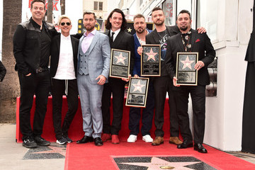 Justin Timberlake Lance Bass NSYNC Honored With Star On The Hollywood Walk Of Fame