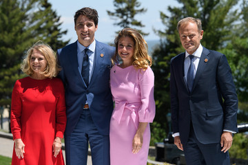 Justin Trudeau Heads Of State Attend G7 Meeting In Quebec - Day One