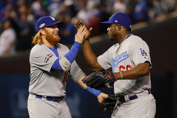 Justin Turner NLCS - Los Angeles Dodgers v Chicago Cubs - Game Two
