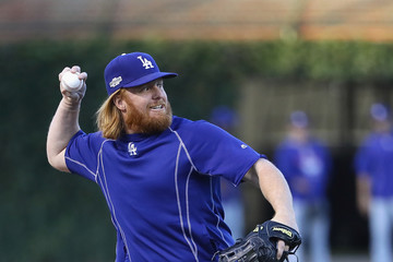 Justin Turner NLCS - Los Angeles Dodgers v Chicago Cubs - Game Six