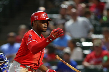 Justin Upton Los Angeles Angels of Anaheim v Texas Rangers