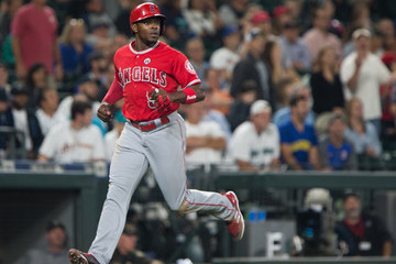 Justin Upton Los Angeles Angels of Anaheim v Seattle Mariners