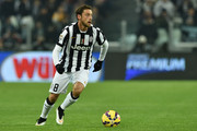 Claudio Marchisio of Juventus FC in action during the Serie A match between Juventus FC and AC Milan at Juventus Arena on February 7, 2015 in Turin, Italy.