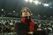 AC Milan head coach Filippo Inzaghi looks on during the Serie A match between Juventus FC and AC Milan at Juventus Arena on February 7, 2015 in Turin, Italy.