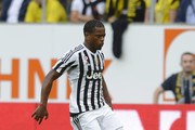 Patrice Evra of Juventus controls the ball during the friendly match between Juventus and Borussia Dortmund on July 25, 2015 in St Gallen, Switzerland.