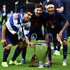 Luis Suarez Photos - (L-R) Luis Suarez, Lionel Messi and Neymar of Barcelona celebrate with the trophy after the UEFA Champions League Final between Juventus and FC Barcelona at Olympiastadion on June 6, 2015 in Berlin, Germany. - Juventus v FC Barcelona  - UEFA Champions League Final