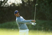 Matteo Manassero of Italy plays his second shot on the 15th hole during day one of the KLM Open at The Dutch on September 13, 2018 in Spijk, Netherlands.