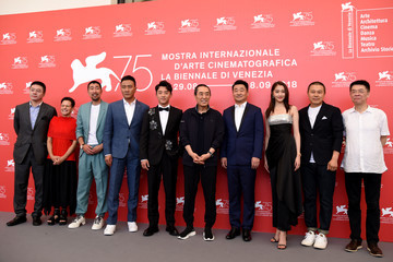 Kai Zheng 'Ying (Shadow)' And 2018 Jaeger-LeCoultre Glory To The Filmaker Award to Zhang Yimou Photocall - 75th Venice Film Festival
