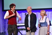 Matze Knop, Franz Beckenbauer and Heidi Beckenbauer during a bavarian evening ahead of the Kaiser Cup 2019 on July 12, 2019 in Bad Griesbach near Passau, Germany.