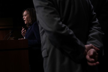 Kamala Harris Senate Intelligence Committee Leaders Present Findings On Threats To Election Infrastructure