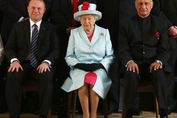 Kamalesh Sharma The Queen and Senior Royals Attend the Commonwealth Heads of Government Meeting - Day Two