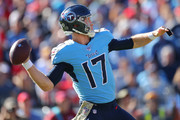 Quarterback Ryan Tannehill #17 of the Tennessee Titans passes against the Kansas City Chiefs in the second quarter at Nissan Stadium on November 10, 2019 in Nashville, Tennessee.