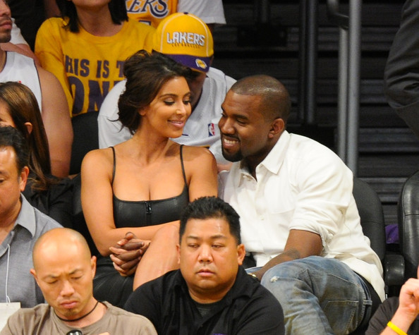 Kanye West - Celebrities At The Lakers Game