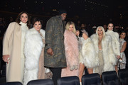 (L-R) Caitlyn Jenner, Kris Jenner, Lamar Odom, Khloe Kardashian, Kylie Jenner, Kim Kardashian, Kendall Jenner and Kourtney Kardashian attend Kanye West Yeezy Season 3 on February 11, 2016 in New York City.