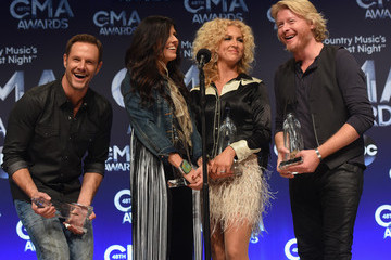 Karen Fairchild Phillip Sweet 48th Annual CMA Awards - Press Room