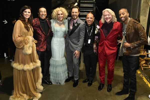 62nd Annual GRAMMY Awards – Backstage [event,fashion,fashion design,fur,costume design,drama,heater,fur clothing,karen fairchild,rickey minor,jimi westbrook,philip sweet,kimberly schlapman,smokey robinson,trombone shorty,l-r,staples center,annual grammy awards,kimberly schlapman,philip sweet,karen fairchild,jimi westbrook,little big town,stock photography,photograph,image,photography]