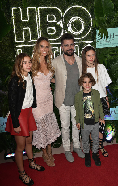 'The Juanes Effect' Premiere [premiere,carpet,red carpet,event,fashion,flooring,adaptation,style,fashion design,karen martinez,juanes,children,the juanes effect,miami beach,florida,faena forum,premiere]