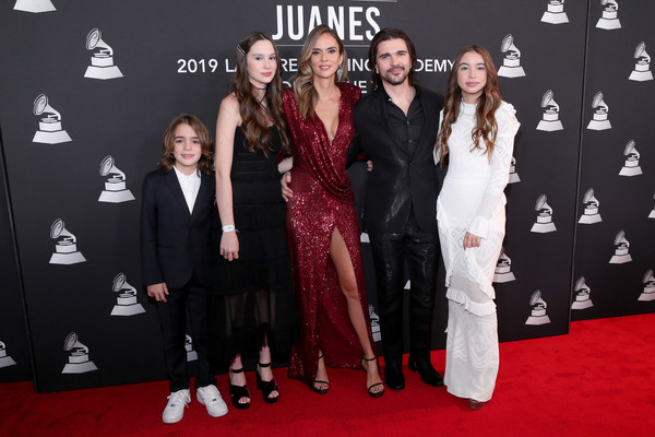 The Latin Recording Academy's 2019 Person Of The Year Gala Honoring Juanes - Arrivals [person of the year gala,red carpet,carpet,premiere,event,flooring,fashion,formal wear,dress,fashion design,suit,juanes,juanes - arrivals,family,karen martinez,mgm grand hotel casino,las vegas,latin recording academy,gala,person of the year]