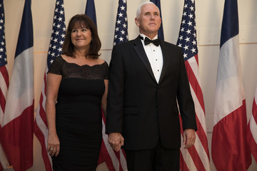 Karen Pence Trump And First Lady Hosts State Dinner For French President Macron And Mrs. Macron