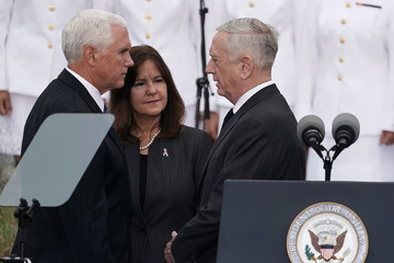 Karen Pence Pentagon Holds September 11th Memorial Observance Ceremony
