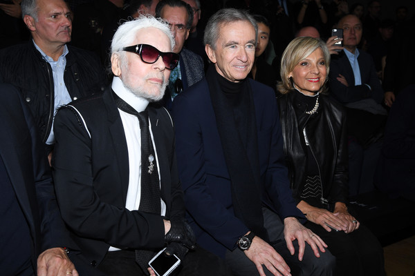 Karl Lagerfeld Photos Photos Dior Homme Front Row Paris